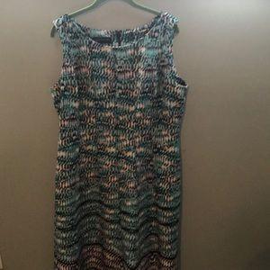 Jones New York Sleeveless Fit & Flare Dress